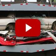 Schrottpresse Autoverwertung
